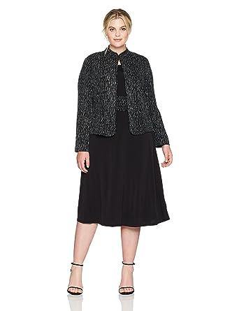 Jessica Howard Women\'s Plus Size Two Piece Jacket Dress at Amazon ...