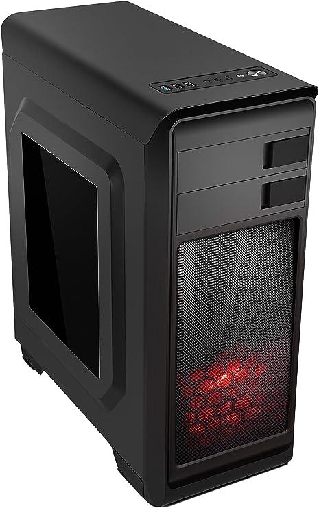 Nox Modus - NXMODUSR - Caja PC, ATX, USB 3.0, Color Negro Rojo: Nox: Amazon.es: Informática