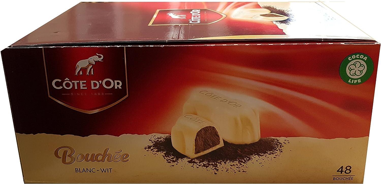 Cote Dor Bouchees White Blanc Wit Belgian Chocolates 24.5g Each: Amazon.es: Electrónica