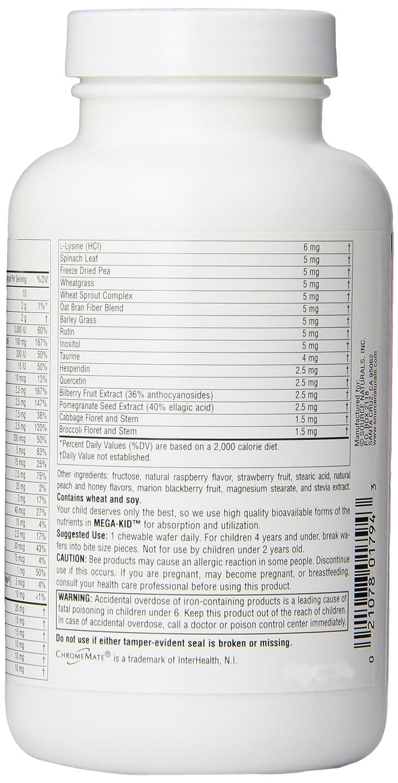 Source Naturals Mega-Kid Chewable Multi-Vitamin, 60 Wafers ...