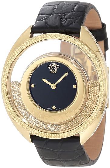 Versace 86Q70D008 S009 - Reloj de Pulsera Mujer, Color Negro: Amazon.es: Relojes
