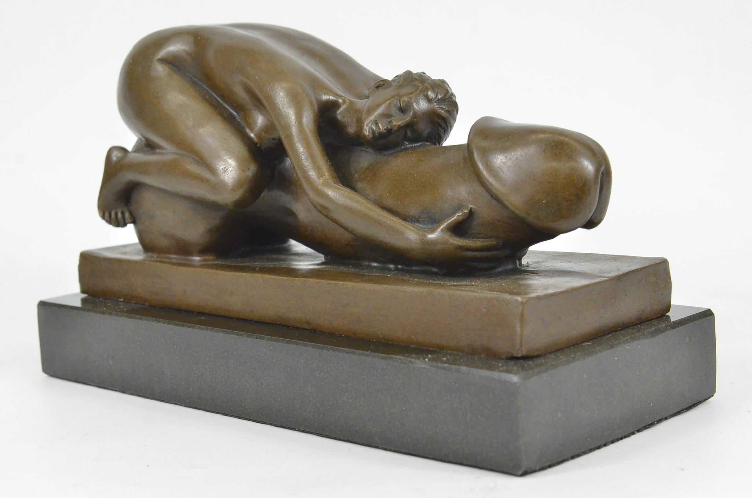 Fine Cast Bronze Sculpture Woman Contemplating 36cm High