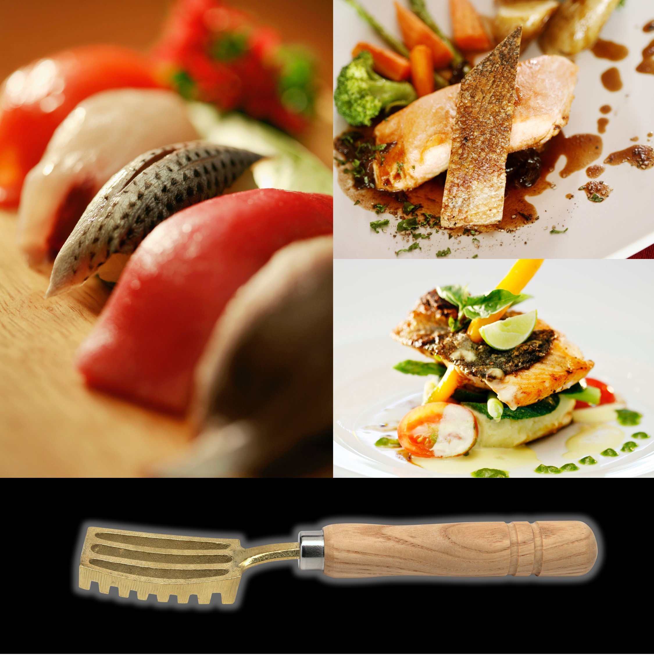 Kwizing Made in Japan Fish Scaler Brush with Brass Serrated Sawtooth and Ergonomic Wooden Handle - Easily Remove Fish Scales Without Fuss Or Mess - Handcrafted by Japanese Artisans by Kwizing (Image #5)