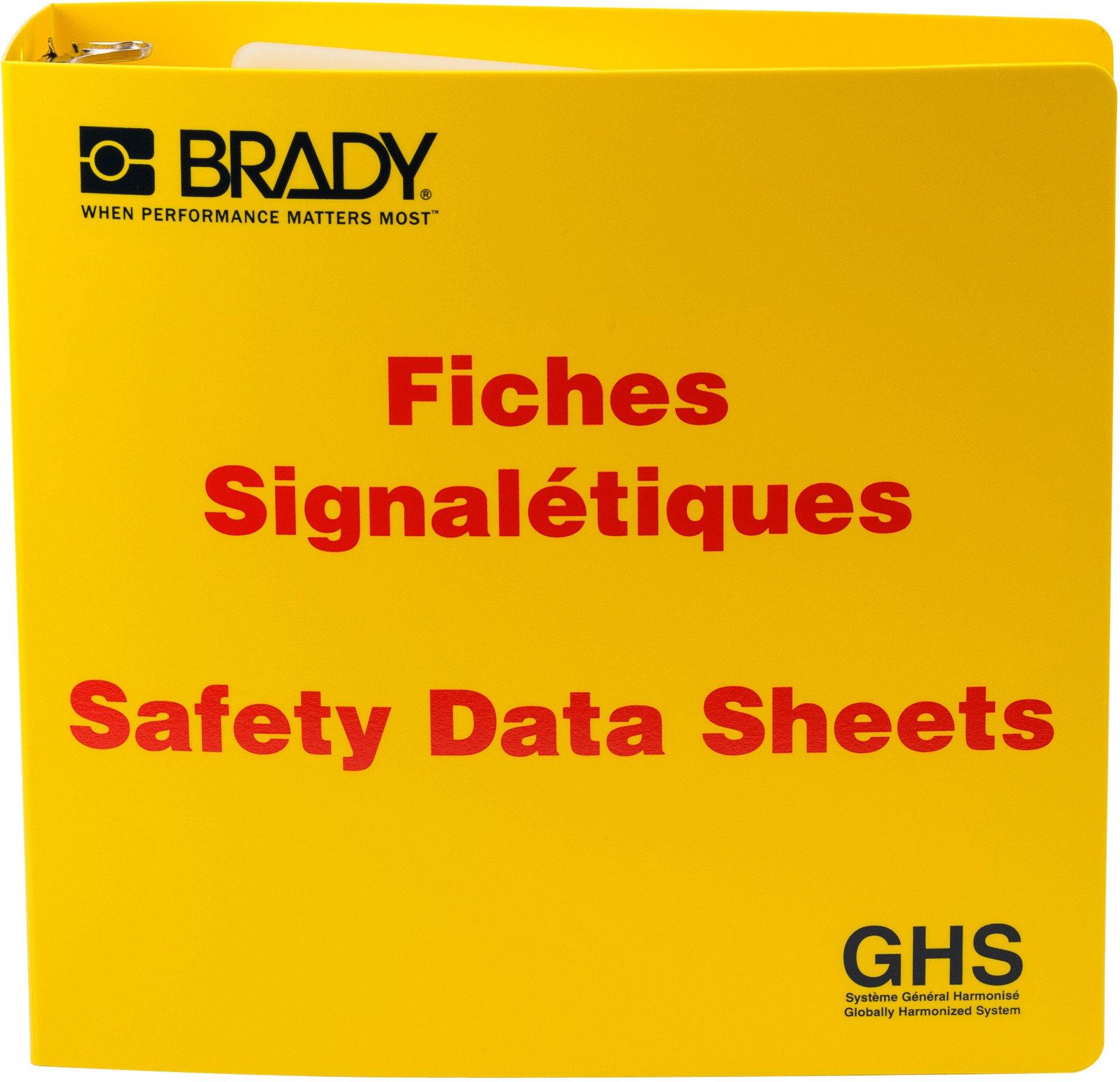 Brady 121187 GHS - 3'' Safety Data Sheet Binder - French