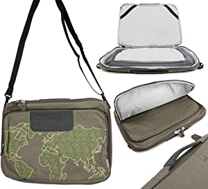 DURAGADGET Khaki Laptop Bag with Adjustable Shoulder Strap - Compatible with MSI PL62 7RC  GS63 7RD Stealth  GL62M 7RDX-2073UK  GL62M 7REX-1293UK  GP62MVR 7RFX-880 Leopard Pro