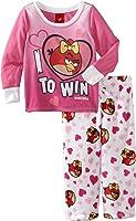 AME Sleepwear Big Girls'  I Love Angry Birds Pajama Set