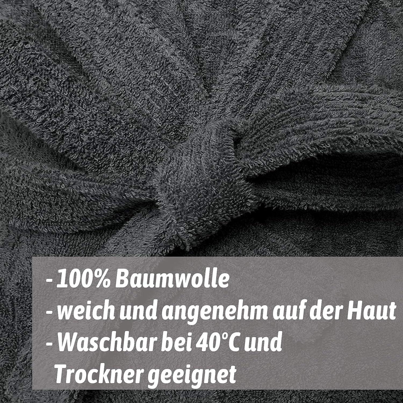HOMELEVEL Kinder Frottee Bademantel aus 100/% Baumwolle f/ür M/ädchen und Jungen