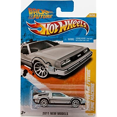 Hot Wheels 18/50 Back to the Future Time Machine Die-Cast: Toys & Games