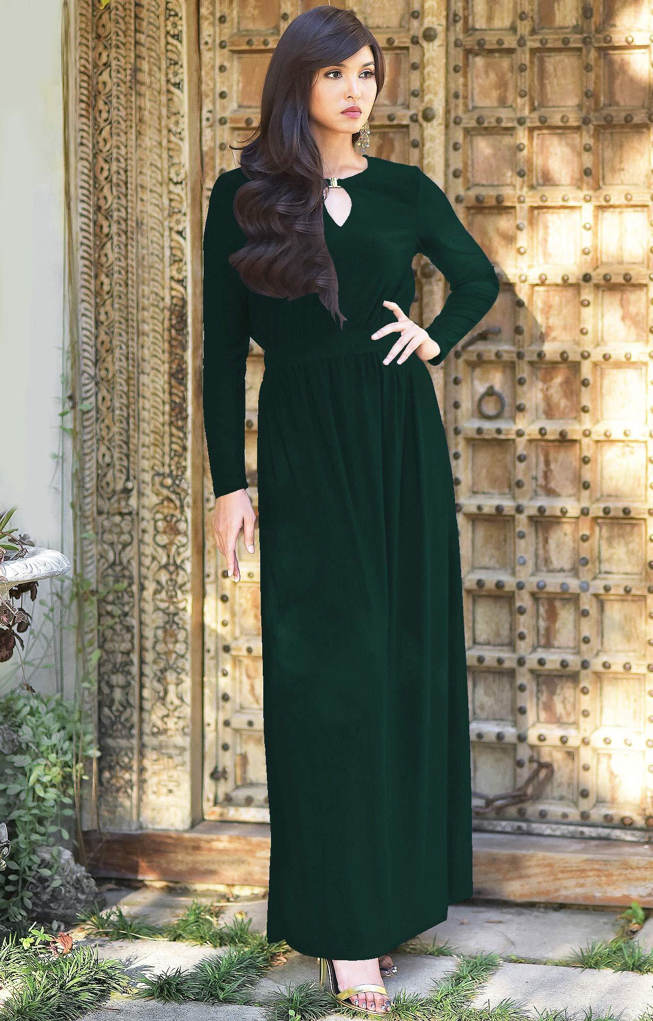 11ba583e11 KOH KOH Plus Size Womens Long Sleeve Sleeves Modest Flowy Fall ...