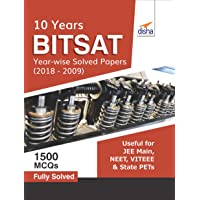 BITSAT 10 Year-wise Solved Papers (2018-2009)