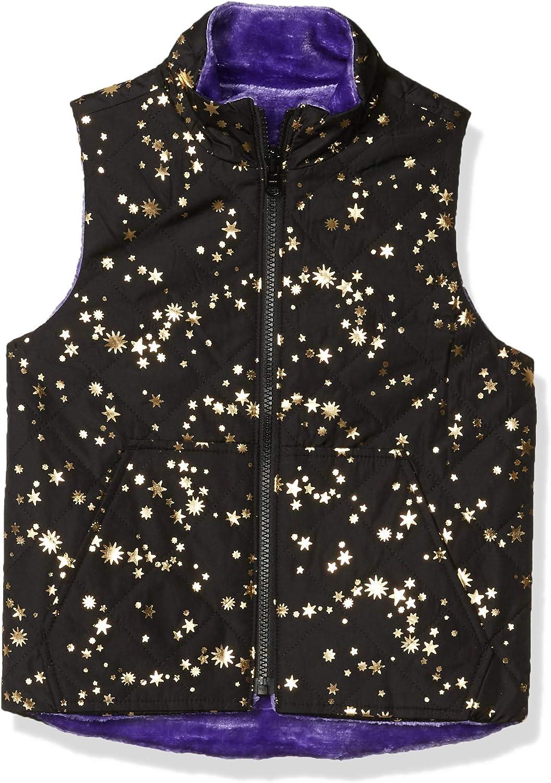 Brand Spotted Zebra Girls Reversible Plush Vest