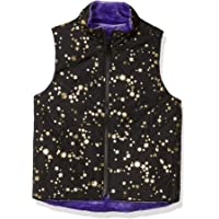 Marca Amazon - Spotted Zebra Reversible Plush Vest Niñas