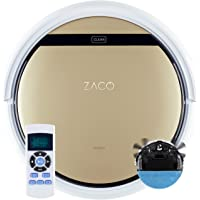 ZACO V5sPro robotstofzuiger met dweilfunctie, automatische stofzuiger robot, 2-in-1 nat wissen tot 180 m² of stofzuigen…