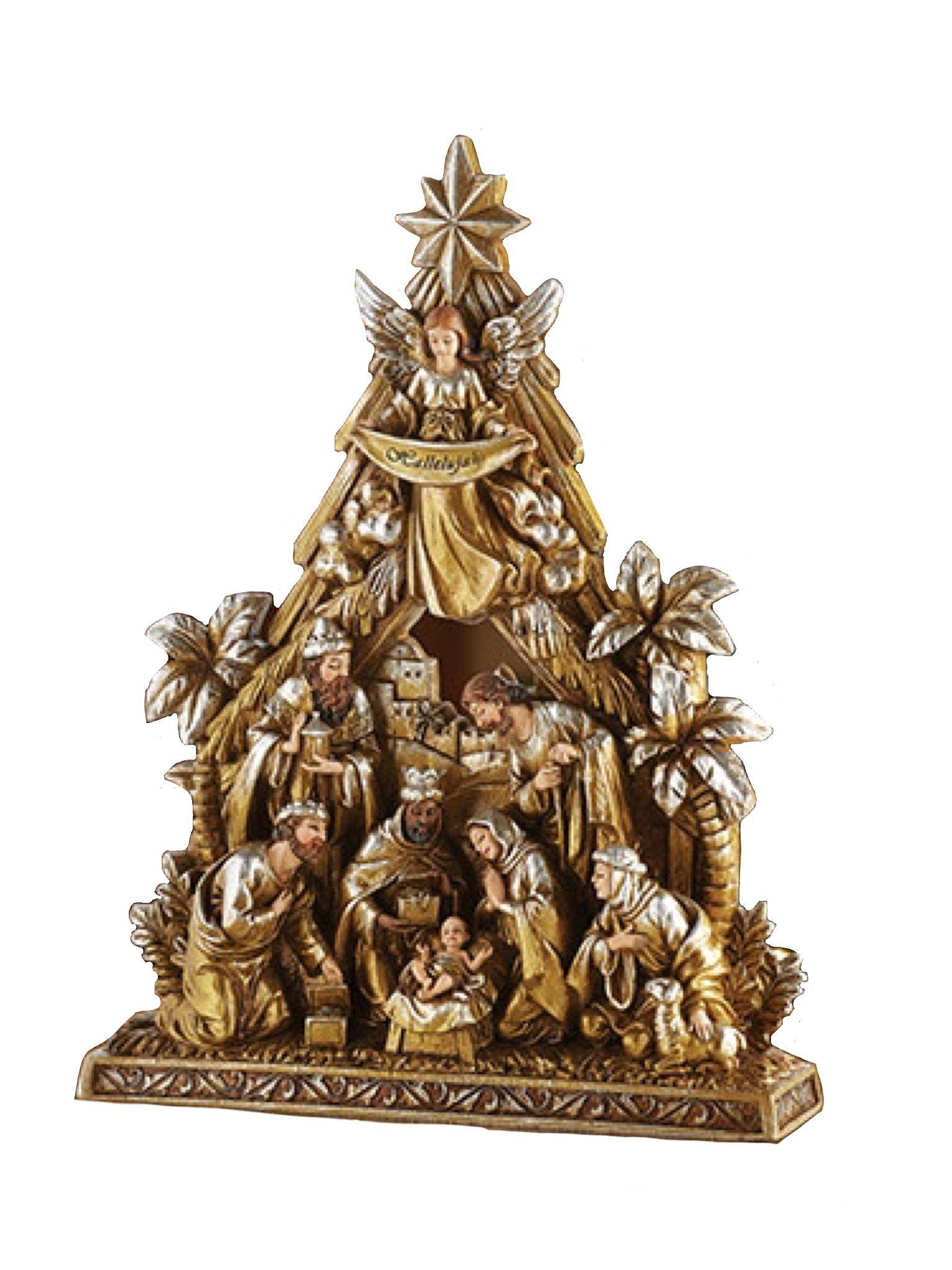 Christian Brand 10.5'' Nativity Figurine Metallic
