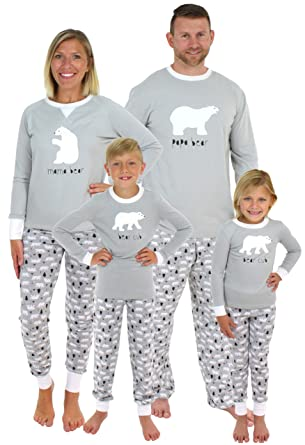 dd093483ba Sleepyheads Holiday Family Matching Polar Bear Pajama PJ Sets - Infant -  Grey Top (SHM