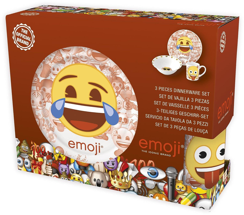 Emoji 3 pc Ceramic Snacktime Set in Gift Box Stor ST-46865
