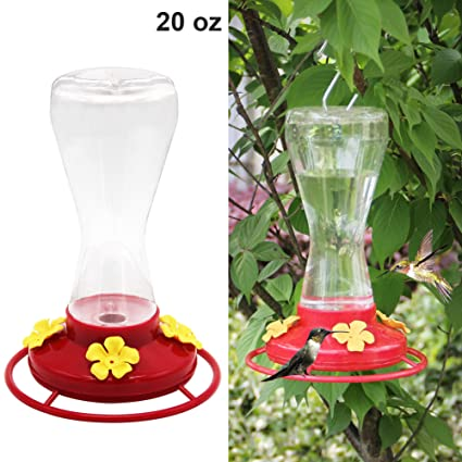 Twinkle Star 20 Ounce Hanging Hummingbird Feeder With 4 Feeding Ports