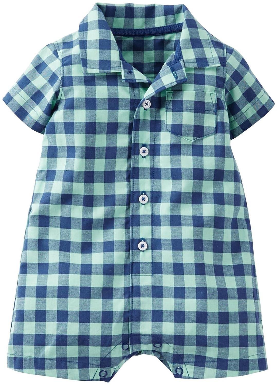 Amazon.com: Carter\'s Baby Boys\' Plaid Romper: Clothing