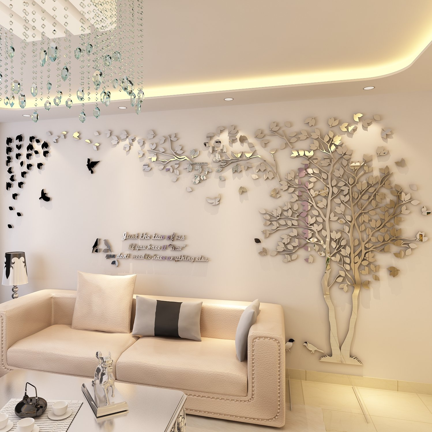 Amazon N SunForest 3D Crystal Acrylic Couple Tree Wall Stickers
