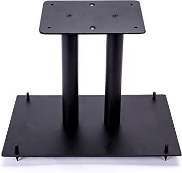 "8"" Heavy Duty, Steel Center Channel Speaker Stand  Fillable  For Medium  to Large Speakers  Comes with Steel Carpet Spikes  By Vega A/V Systems"
