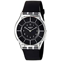 Swatch Women's 'Classiness' Quartz Plastic and Silicone Watch, Color:Black (Model: SFK361)