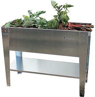 Hochbeet Fur Balkon Terrasse Silber 1 Stuck Amazon De Garten