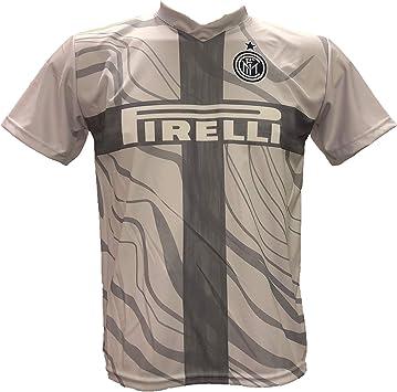 Tercera camiseta Nainggolan 14 Inter gris Away Fútbol réplica autorizada 2018 – 2019 y calcetín llavero negro azul de regalo tallas de niño (años 6 – 8 – 10 – 12) y adulto (S M L XL): Amazon.es: Ropa y accesorios
