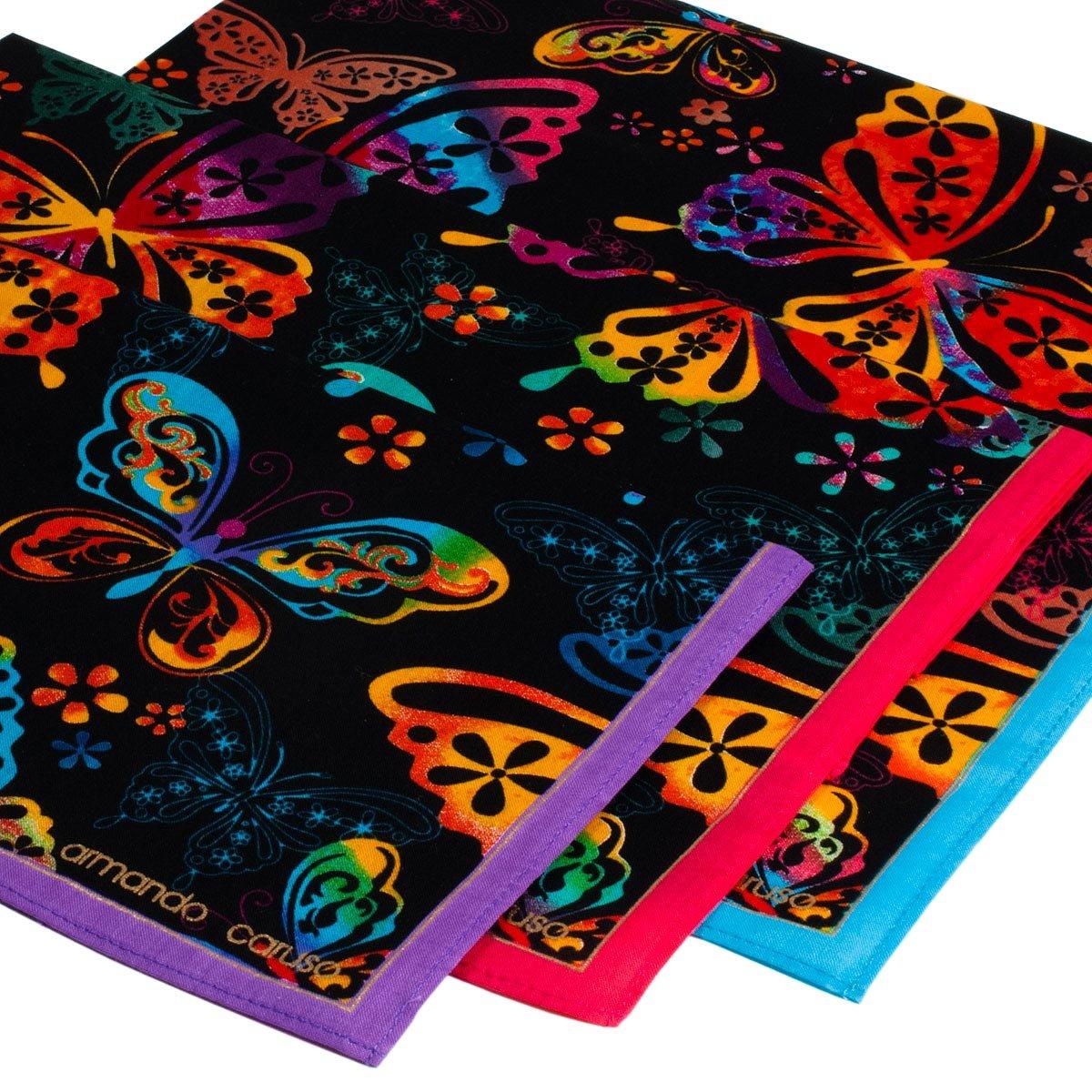 """Butterfly"" handkerchiefs - 3 units Armando Caruso"