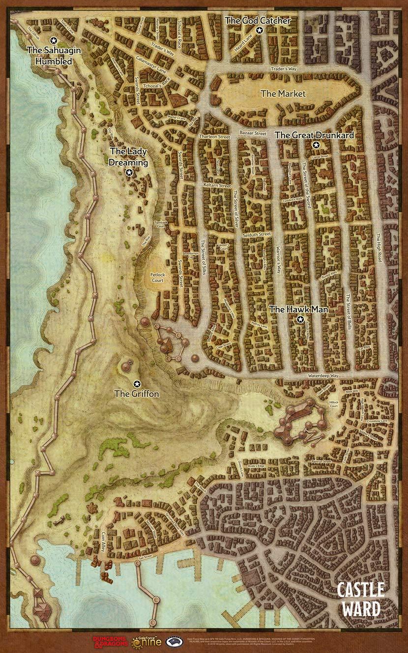 Dungeons & Dragons - Waterdeep Dragon Heist Map Set