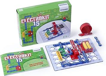 Miniland-Electrokit 15 experimentos Kit de construcción de circuitos electrónicos para niños, color variados, (99115) , color/modelo surtido: Amazon.es: Juguetes y juegos