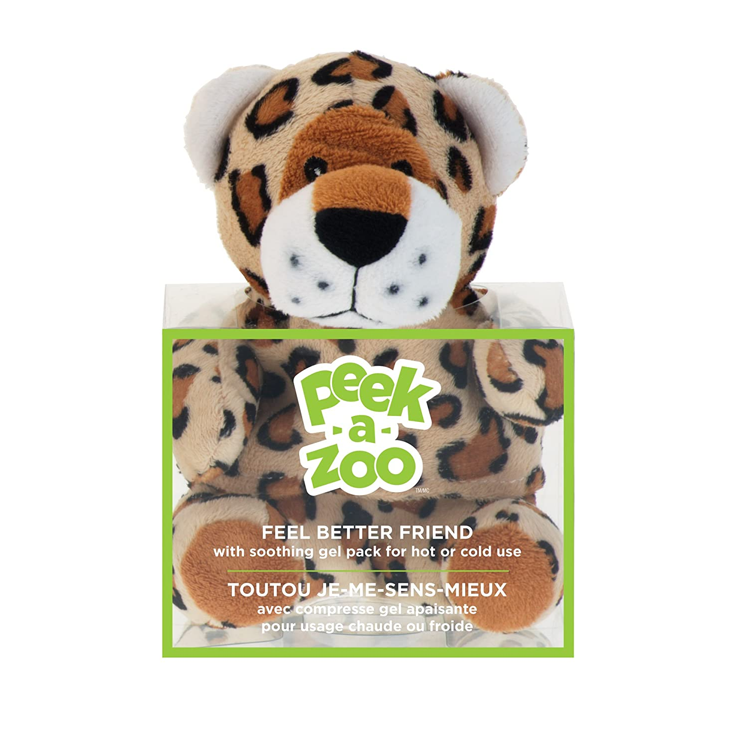 Amazon.com: Upper Canada Soap Peek-A-Zoo Feel Better Friend Hot/Cold Pack, Leopard: Health & Personal Care