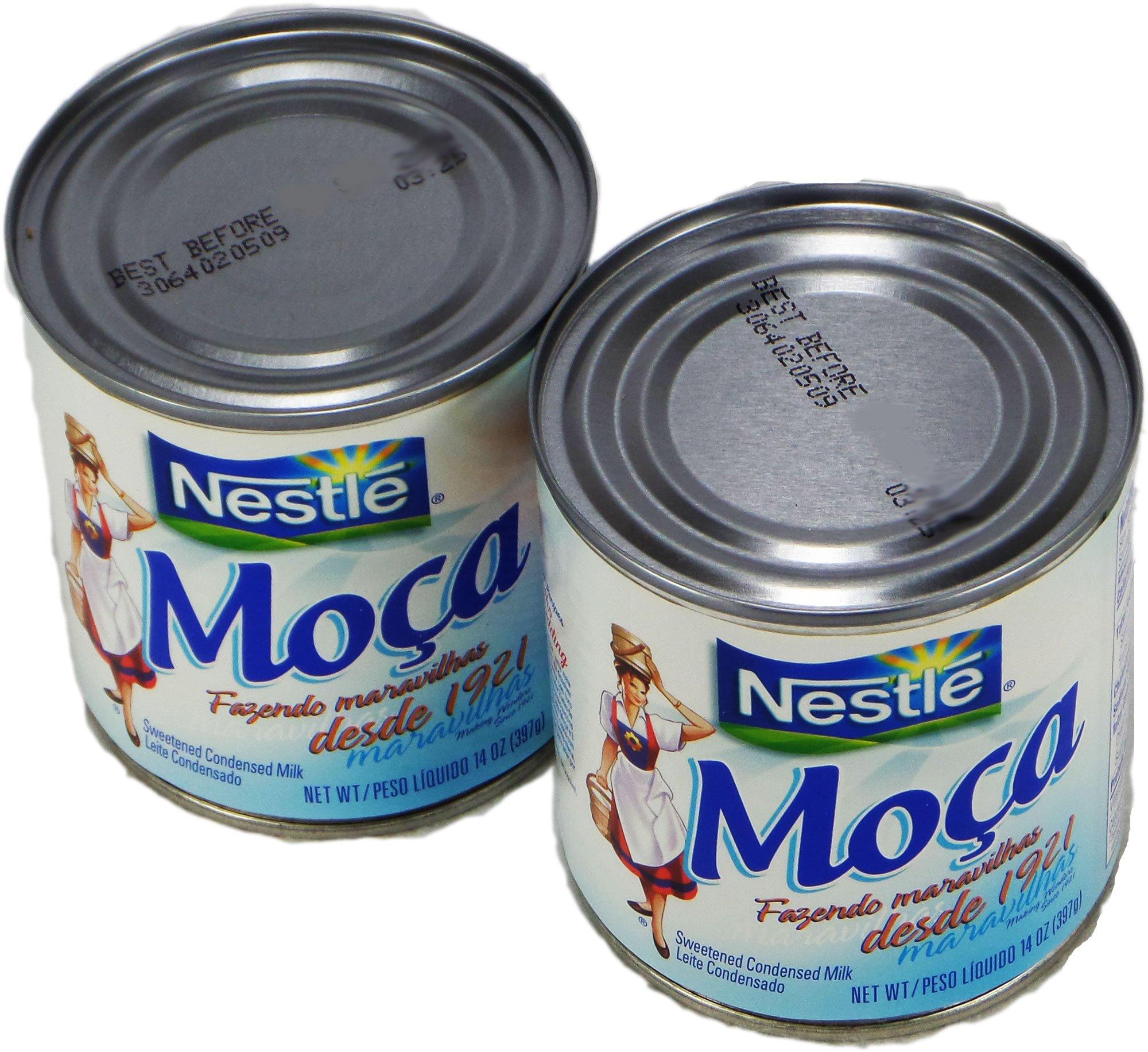 Nestlé Moça Leite Condensado 397g | Sweetened Condensed Milk 14oz. (Pack of 02)