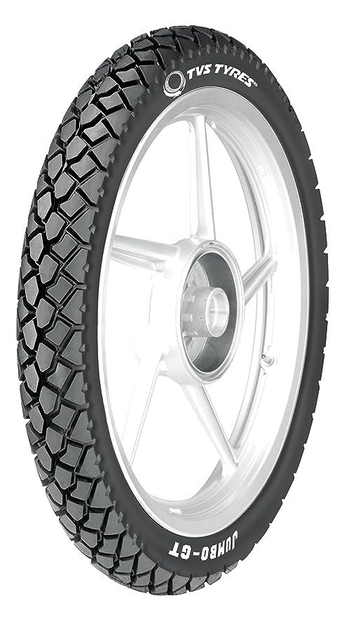 TVS Tyres REINF. JUMBO GT 80/100-18 54P Tubeless Bike Tyre, Rear, Black