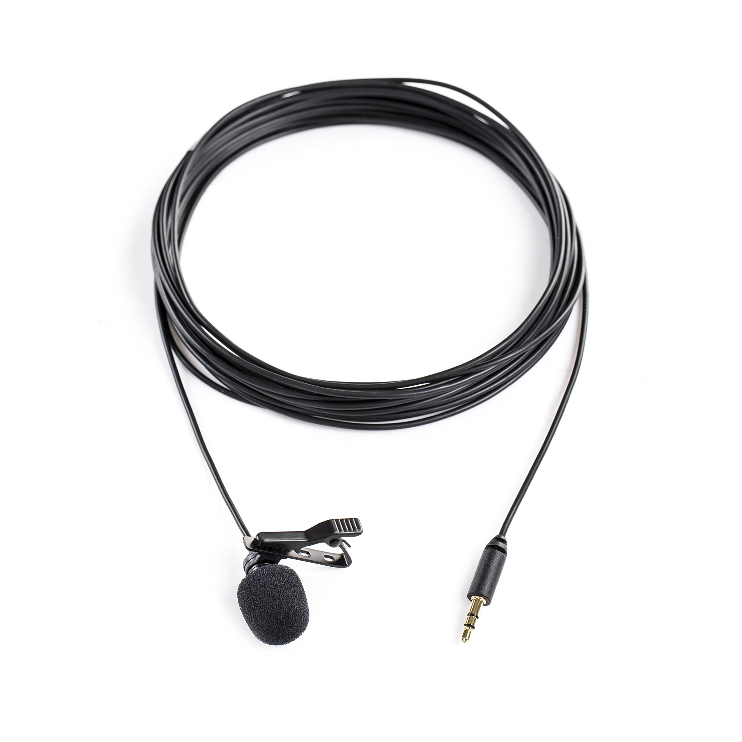Saramonic SR-XLM1 Broadcast-Quality Lavalier Omnidirectional Microphone with 3.5mm TRS Connector for DSLR Cameras, Camcorders, Recorders & Saramonic Devices by Saramonic