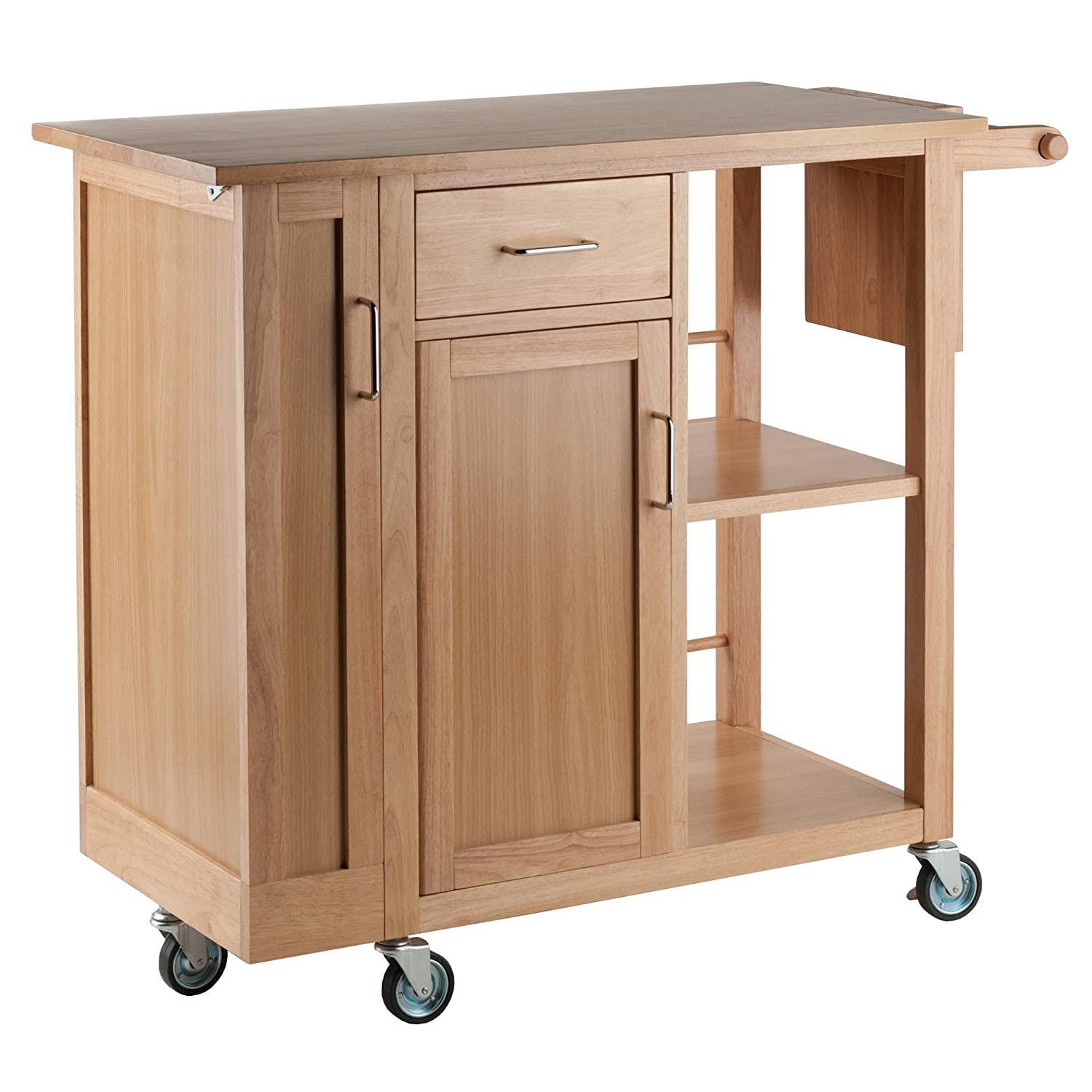 Winsome Wood Anthony Kitchen Cart Stainless Steel