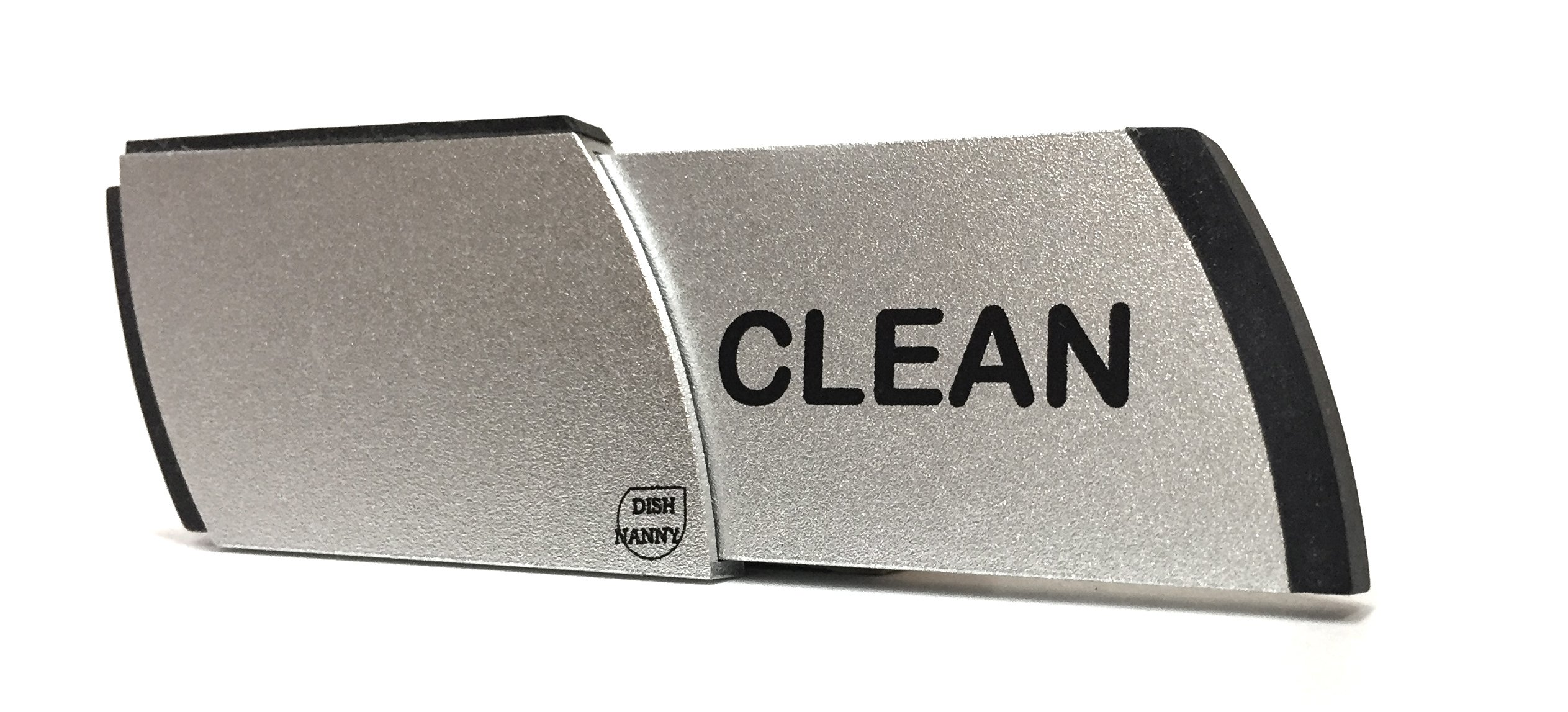 Premium Metal Dishwasher Magnet Clean Dirty Sign | Contemporary Indicator - Best Kitchen Gadgets for All Dishwashers - For Home or Office Organization Using Padded Magnets or 3M Tabs (Black Lettering) by SMACD
