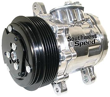 Nuevo sudoeste velocidad pulido Sanden sd-7b10 Vintage aire acondicionado Compresor con 6 Groove Serpentina