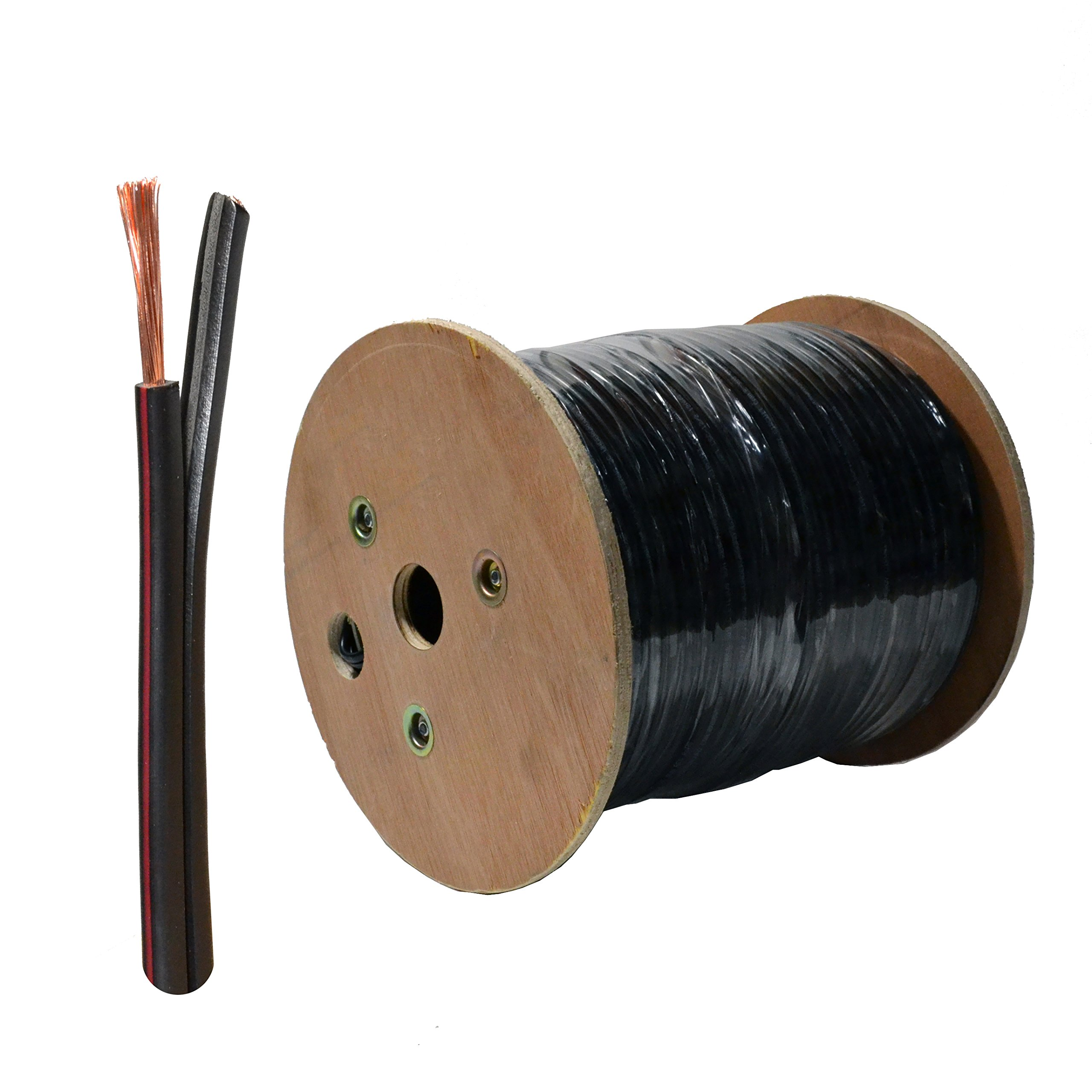 Landscape 14/2 Outdoor Lighting Low Voltage Wire Direct Burial UV Protection cable 14 Gauge Bare Copper 500-Feet