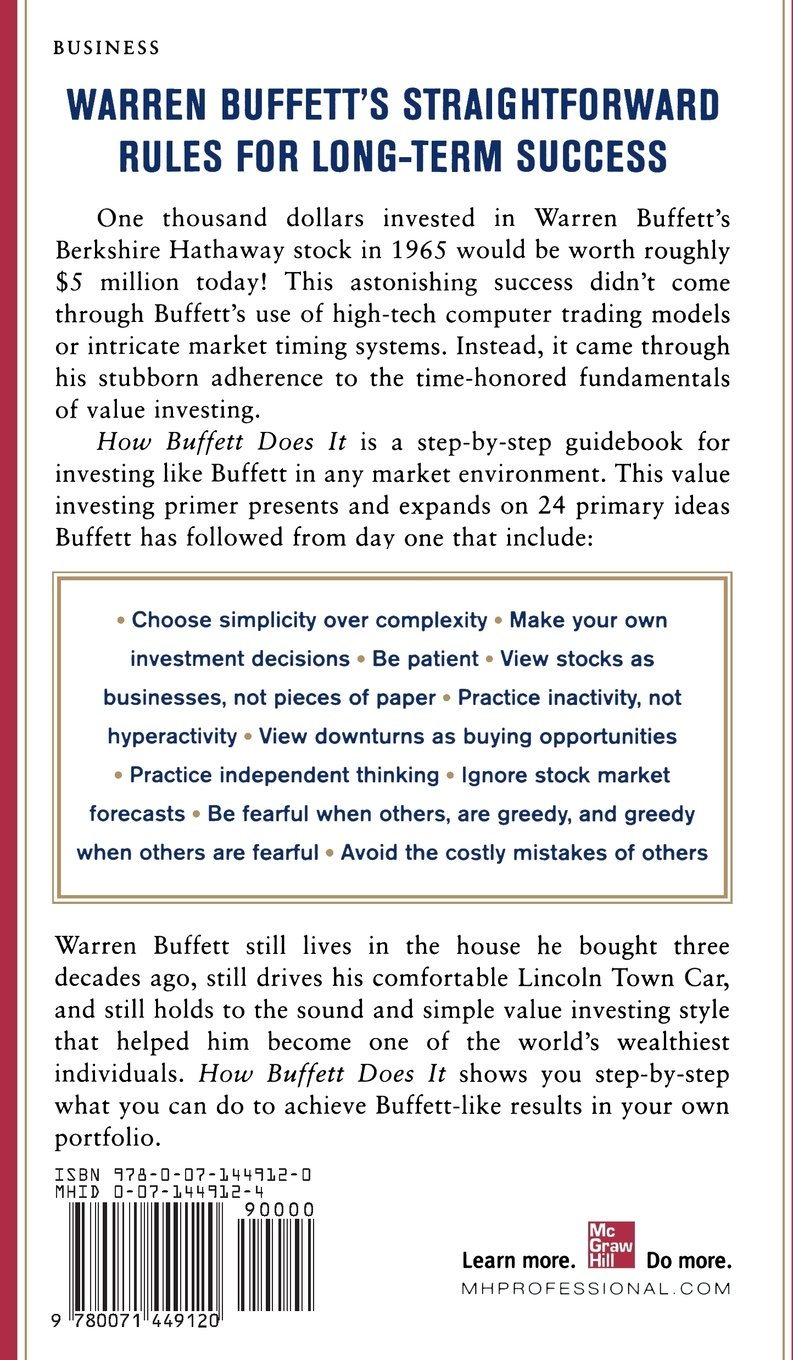 How Buffett Does It: 24 Simple Investing Strategies from the