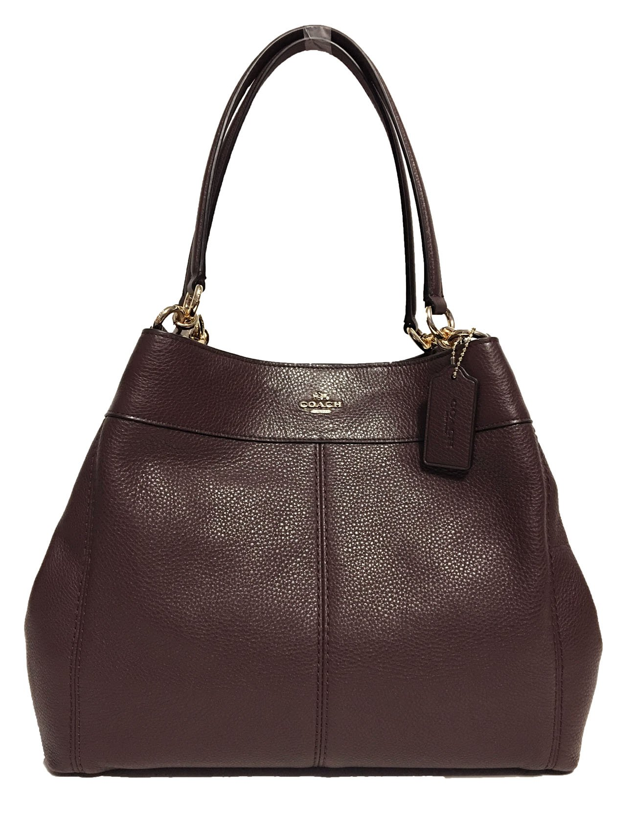 Coach F57545 Lexy Pebble Leather Shoulder Bag (Oxblood) by Coach