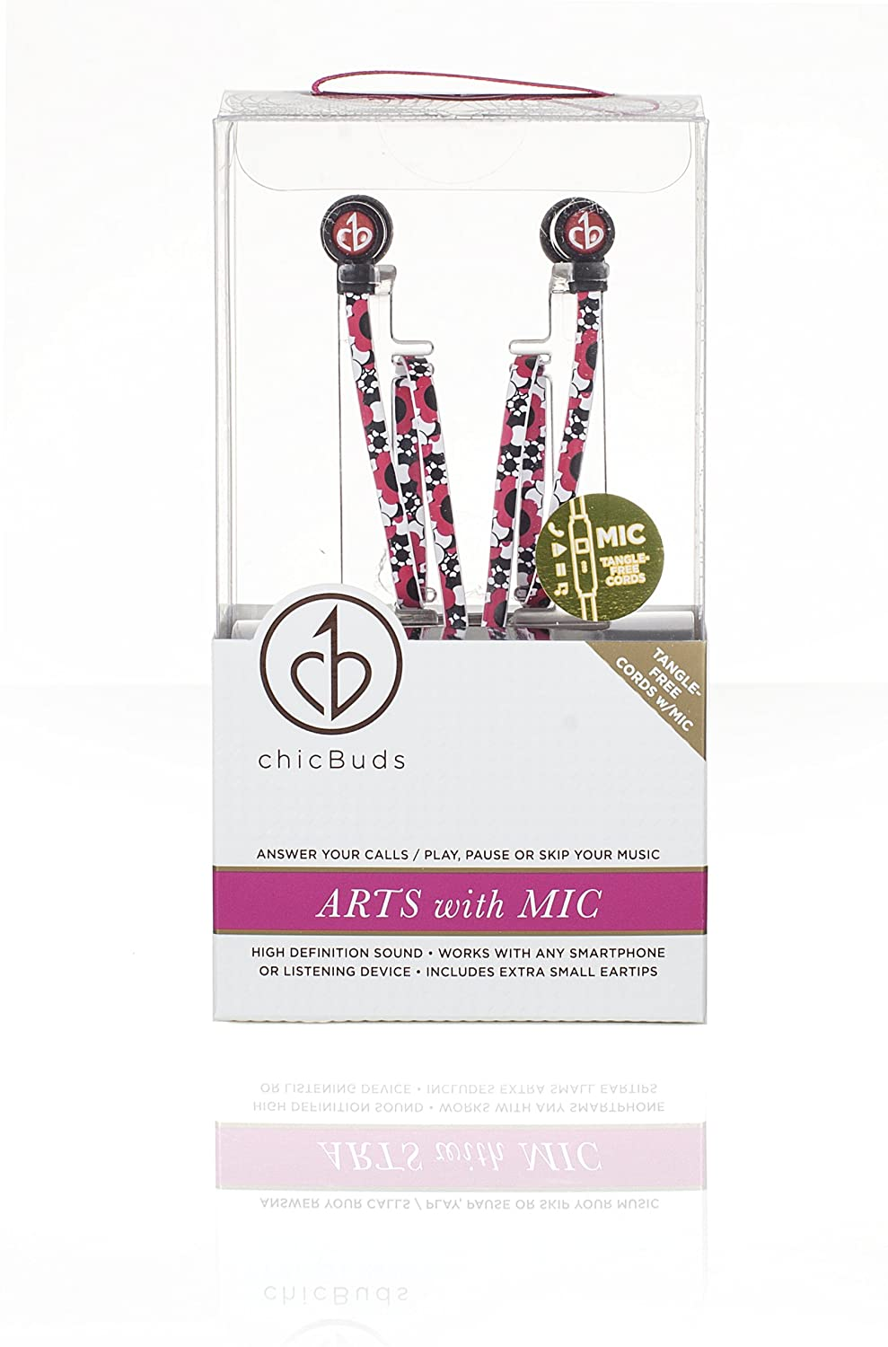 Amazon.com: Chic Tangle Free Arts Earbud Headphones With Microphone    Flora: Home Audio U0026 Theater