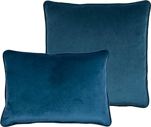 Sherry Kline Richmond Velvet Combo Pillow, 20 x 20 13 x 20 , Dark Blue