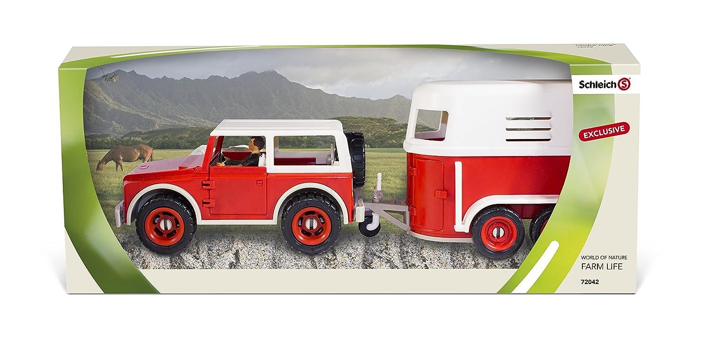Schleich Jeep mit Anhänger und Fahrer Action- & Spielfiguren