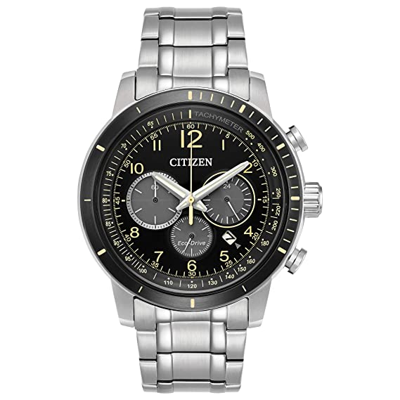 ad5404bc5 Image Unavailable. Image not available for. Color: Citizen Men's Eco-Drive  CA4358-58E Silver Stainless-Steel Japanese Quartz ...