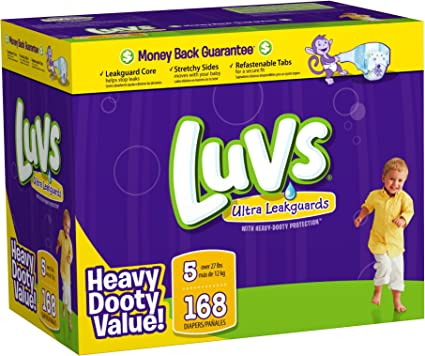 Luvs Premium Stretch Diapers with Ultra Leakguards Diapers Size 4 204-Count