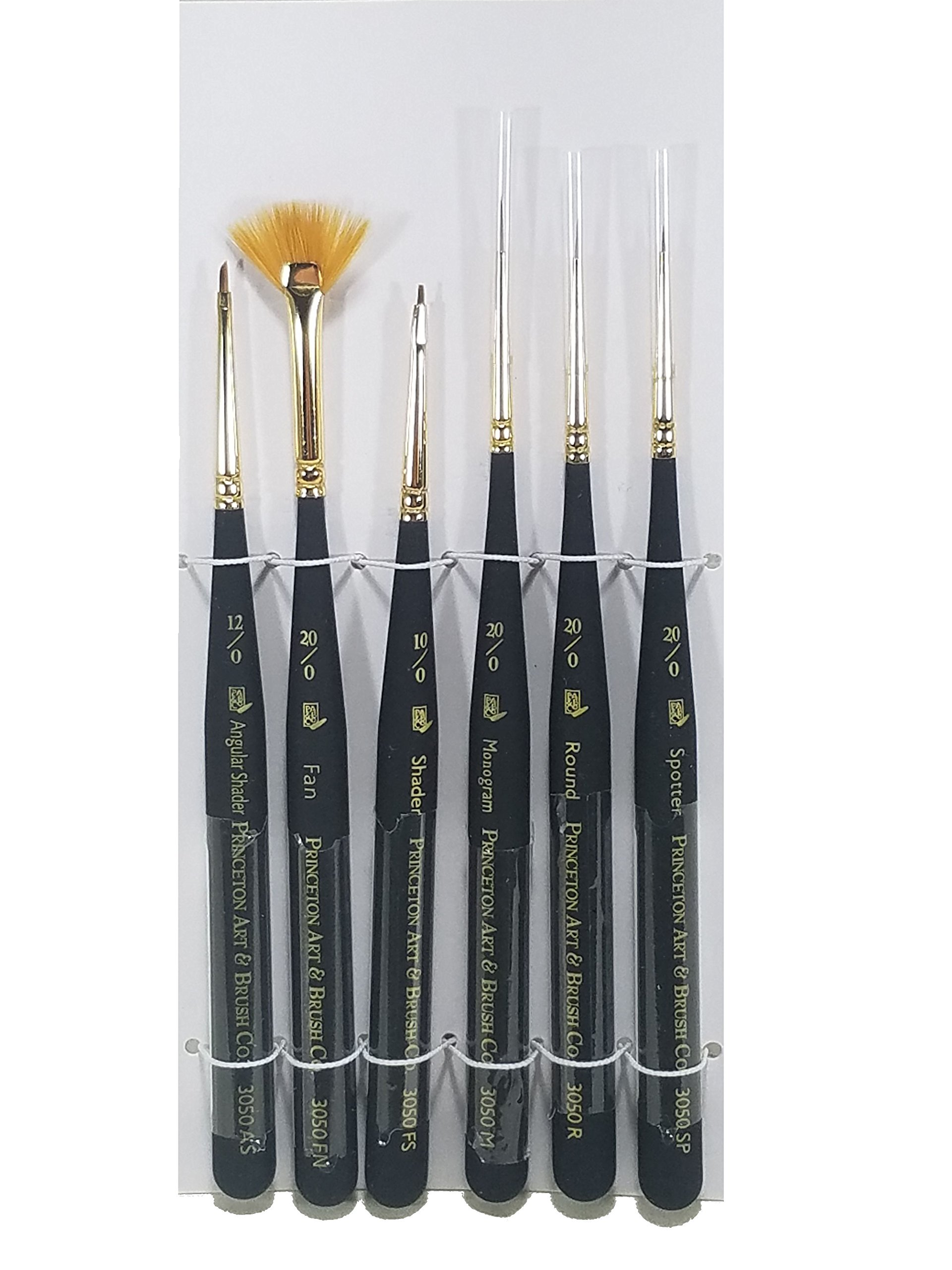 Princeton Series 3050 Mini Detailer Synthetic Sable 6 Piece Brush Set by Princeton Art & Brush