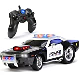 KidiRace Remote Control Police Car Toy with Lights and Sirens for Boys - Rechargeable Cop Car - Durable RC Police Car Toy for