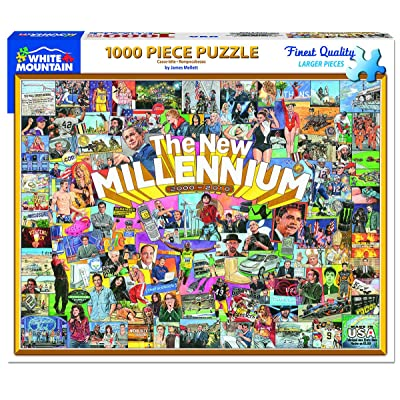White Mountain Puzzles The New Millennium - 1000Piece Jigsaw Puzzle: Toys & Games