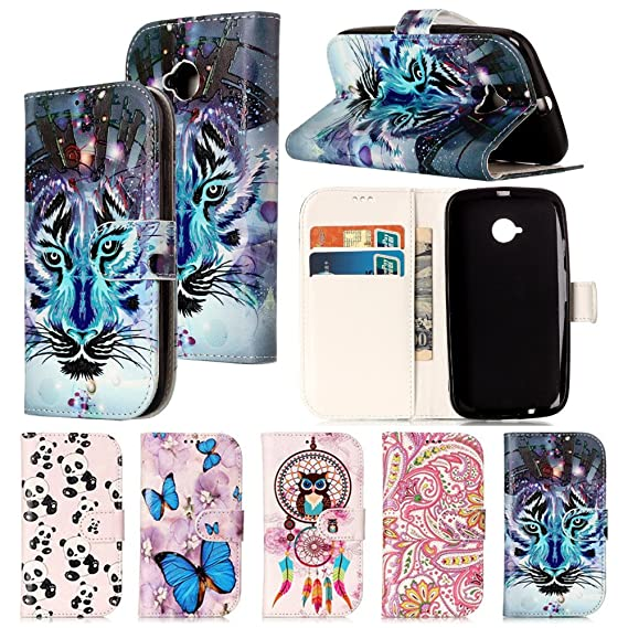 new arrival 43f52 2f9ba Moto E2 Case,IVY [Kickstand & Relief] Moto E2 Wallet Phone Case [ID&Credit  Card Pockets][Snow Wolf] PU Leather Cover Flip Wallet Case For Motorola ...