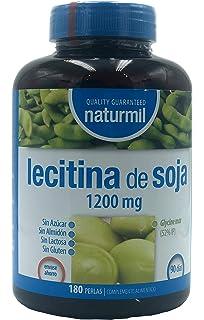 LECITINA DE SOJA 1200 MG IP 180 PERLAS NATURMIL, no GMO, , sin gluten